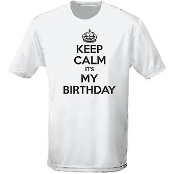 Hålla lugn det är min födelsedag Mens T-Shirt 10 färger (S-3XL) genom swagwear