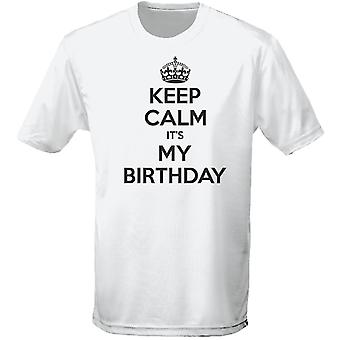 Keep Calm It's My Birthday Mens T-Shirt 10 Colours (S-3XL) by swagwear