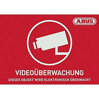 Warning label CCTV Languages German (W x H) 148 mm x 105 mm