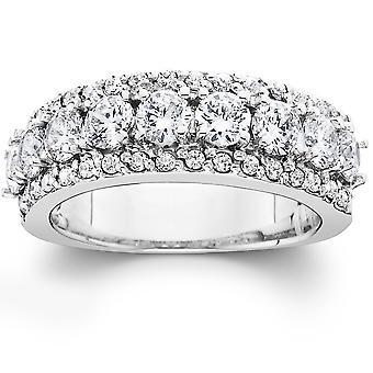 1 1 / 2ct Diamond trouwring Womens verjaardag Band 14k White Gold