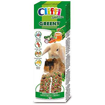 Cliffi Greeny Snack para Conejos Enanos y Cobayas (Small pets , Treats)