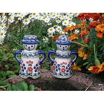 Sal + pimienta shakers parejas, 13,5 cm 102 alto, único, m-3466 BSN
