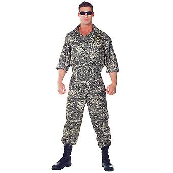 US Army Jumpsuit Soldier Military Uniform Navy Combat Men Costume One Size