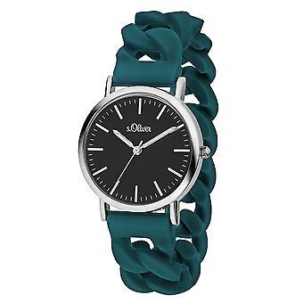 s.Oliver Damen Uhr Armbanduhr Silikon SO-3418-PQ