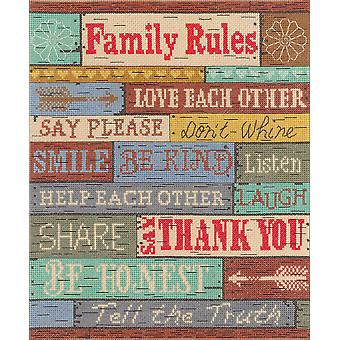Family Rules Counted Cross Stitch Kit-10