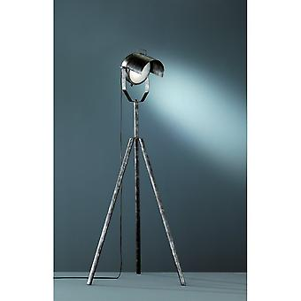 Trio Lighting No.5 Modern Antique Silver Metal Floor Lamp