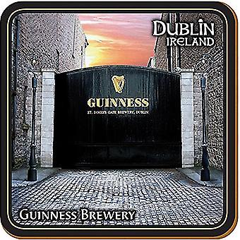 Guinness St James Brewery Gates Cork Backed Drinks Coaster 100Mm X 100Mm