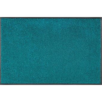 wash + dry trend colour Peacock Green washable floor mat