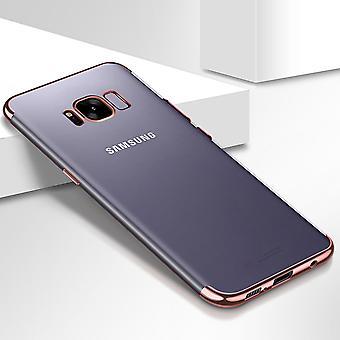 Handy Hülle Schutz Case für Samsung Galaxy S7 Durchsichtig Transparent Rose Pink