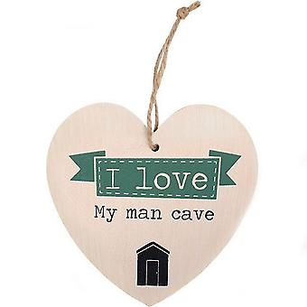 Something Different I Love My Man Cave Hanging Heart Sign