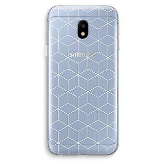 Samsung Galaxy J3 (2017) Transparent Case (Soft) - Cubes black and white