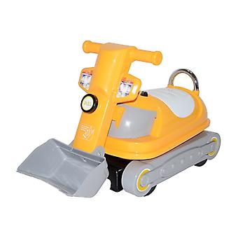 RideonToys4u 360 Degrees Rotating Ride on Bulldozer Push Along Toy With Under