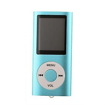 Slim reproductor de MP3 con la tarjeta del TF y soporte de Radio FM-color azul