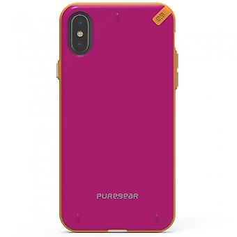 APPLE IPHONE X PUREGEAR SLIM SHELL SERIES CASE - SUNSET PINK
