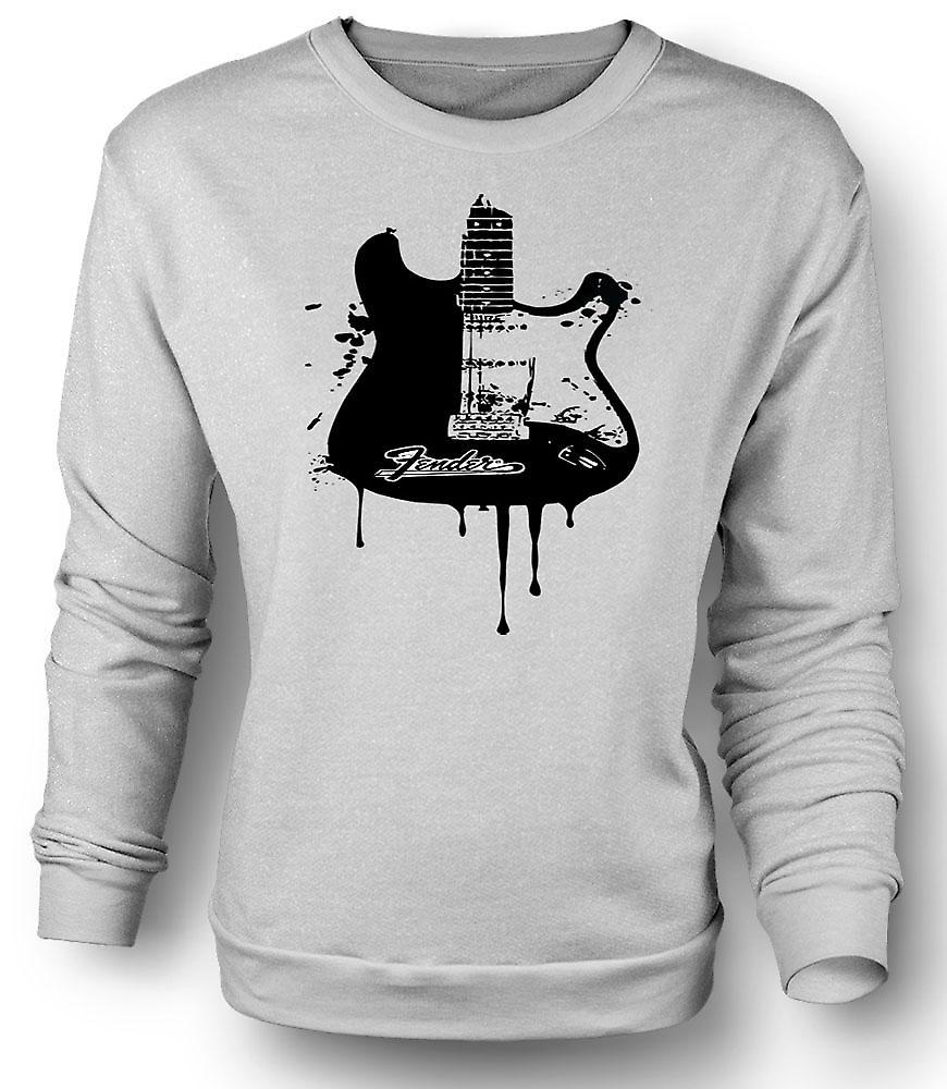Mens Sweatshirt Fender Strat - Grunge Guitar