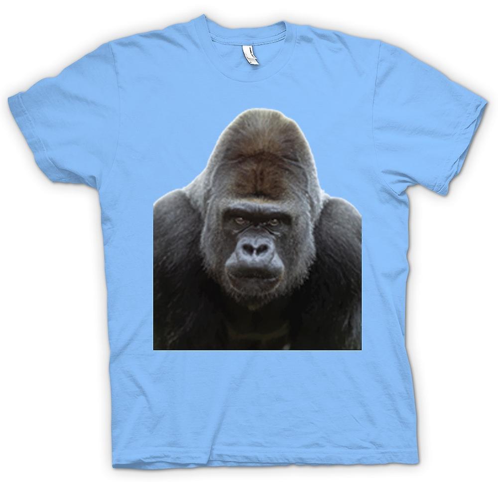 Mens T-shirt - Gorilla Silverback Portrait