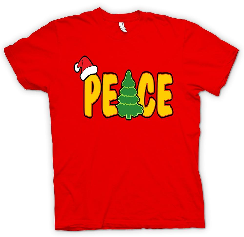 Mens T-shirt - Peace - Cool Christmas