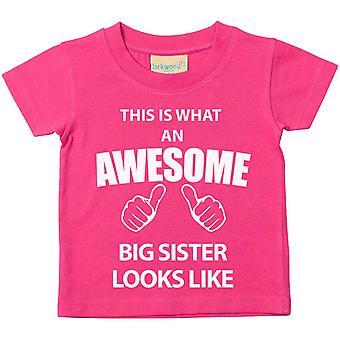 Dies ist was An Awesome große Schwester sieht aus wie Rosa Tshirt
