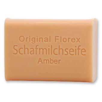 Florex Schafmilchseife - Amber - cremige Seife mit einem verführerischem Duft 100 g
