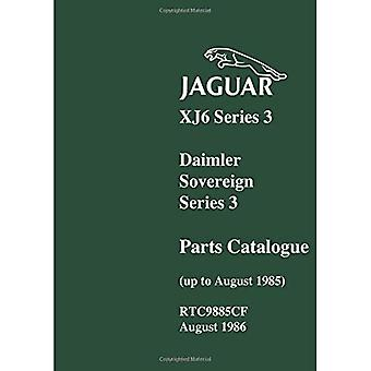 Jaguar XJ6 en Daimler soevereine serie 3 Parts catalogus