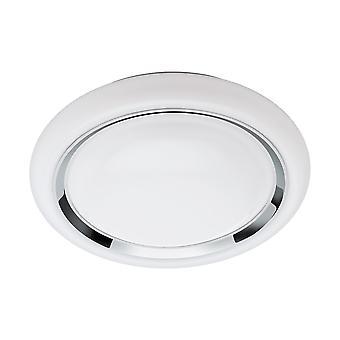 Eglo - Capasso collegare controllata sintonizzabile bianco & RGB decorativo soffitto illuminazione cromo EG96686