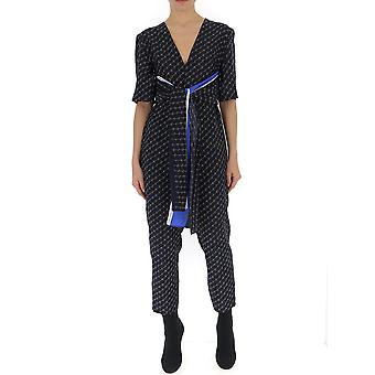 Stella Mccartney Blue Silk Jumpsuit