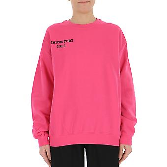 Semi-couture Paola Fuchsia Cotton Sweatshirt