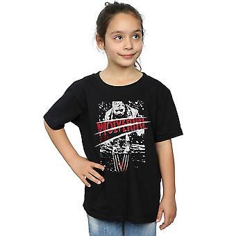 Praktfull jenter X-mannskap delt rød Wolverine t-skjorte