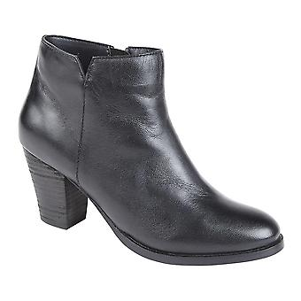 Ladies Womens New Soft Leather Inside Zip Casual Ankle Boots Shoes