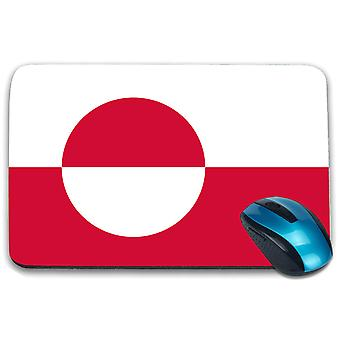 i-Tronixs - Greenland Flag Printed Design Non-Slip Rectangular Mouse Mat for Office / Home / Gaming - 0213
