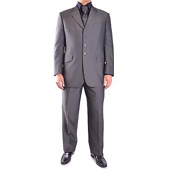 Carlo Pignatelli Grey Wool Suit