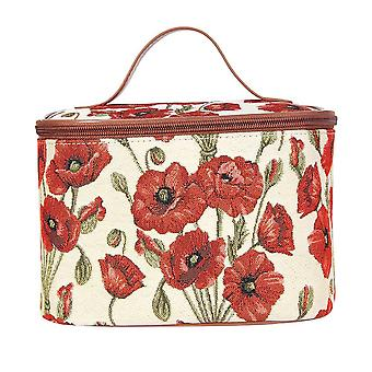 Poppy women's makeup bag by signare tapestry / toil-pop