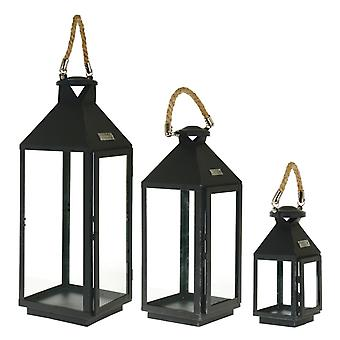 Lamp set black wrought iron chandelier