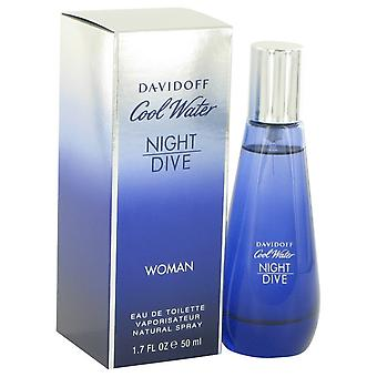 Cool Water Night Dive by Davidoff Eau De Toilette Spray 1.7 oz / 50 ml (Women)