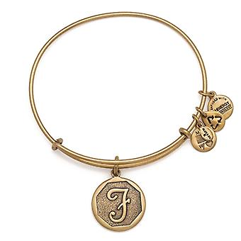 Alex en Ani initiële F Gold Bangle A13EB14FG
