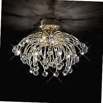 Xeena Ceiling 10 Light French Gold/crystal