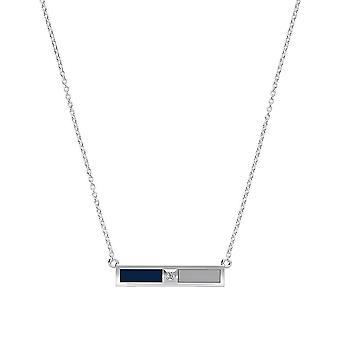 University Of North Florida - Diamond Bar Necklace In Dark Blue And Grey