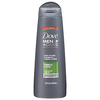 Dove men+care 2 in 1 shampoo & conditioner, fresh clean, 12 oz