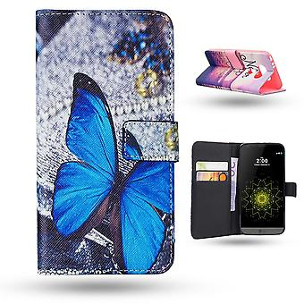 Lg G5 Cas/portefeuille cuir-Butterfly