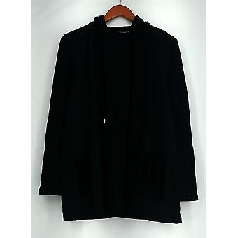 Susan Graver Sweater Weekend Brushed Back Cardigan noir A269319