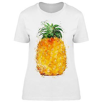 Aquarel ananas Art Tee vrouwen ' s-afbeelding door Shutterstock