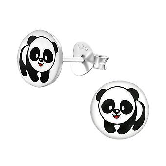 Panda - 925 Sterling Silver Colourful Ear Studs - W19715X