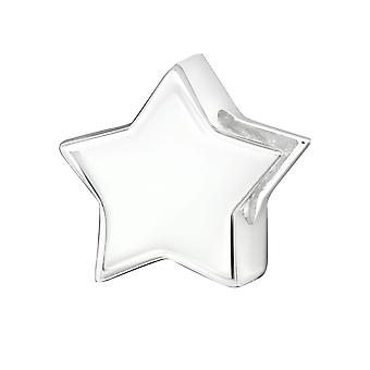 Star - 925 Sterling Sølv Plain perler - W29523X