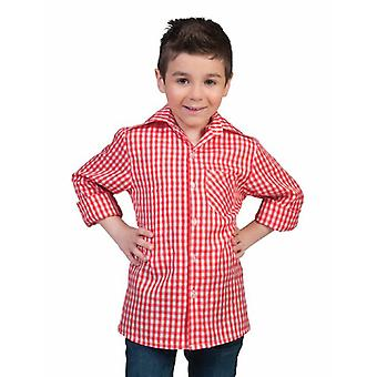 Costume Tyrolean Shirt Red-White Carnival Carnival Carnival Carnival Theme Party Children Costume Costume Kids