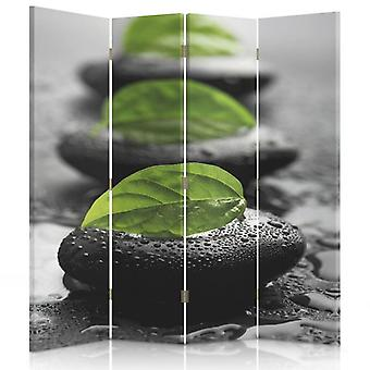 Room Divider, 4 Panels, Double-Sided, Rotatable 360, Canvas, Stones 2