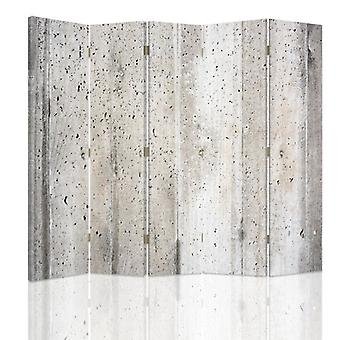 Room Divider, 5 Panels, Canvas, Concrete Wall 3