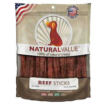 Natural Value Treats 14oz-Beef Sticks LP8062
