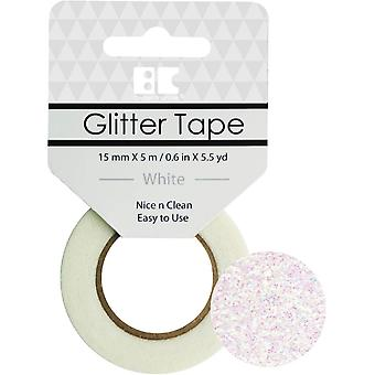 Best Creation Glitter Tape 15mmX5m-White GTS-010