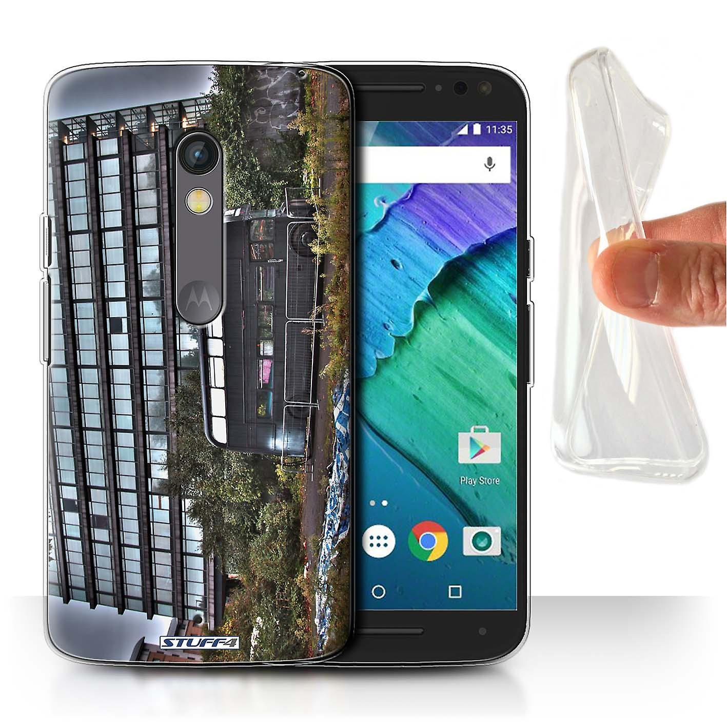 STUFF4 Gel/TPU Case/Cover for Motorola Moto X Play 2015/Derelict Bus/London England