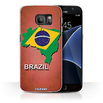 STUFF4 Case/Cover for Samsung Galaxy S7/G930/Brazil/Brazilian/Flag Nations